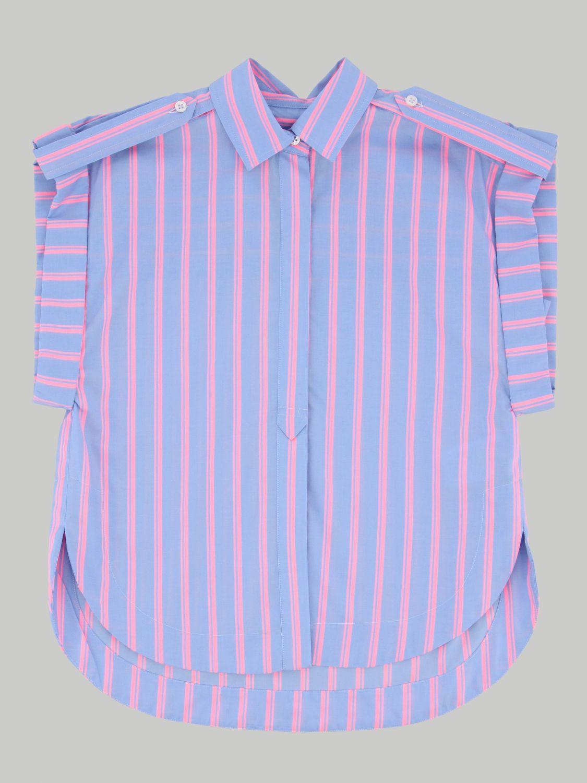 Camicia Alberta Ferretti Junior: Camicia Alberta Ferretti Junior a righe con logo posteriore fuxia 1