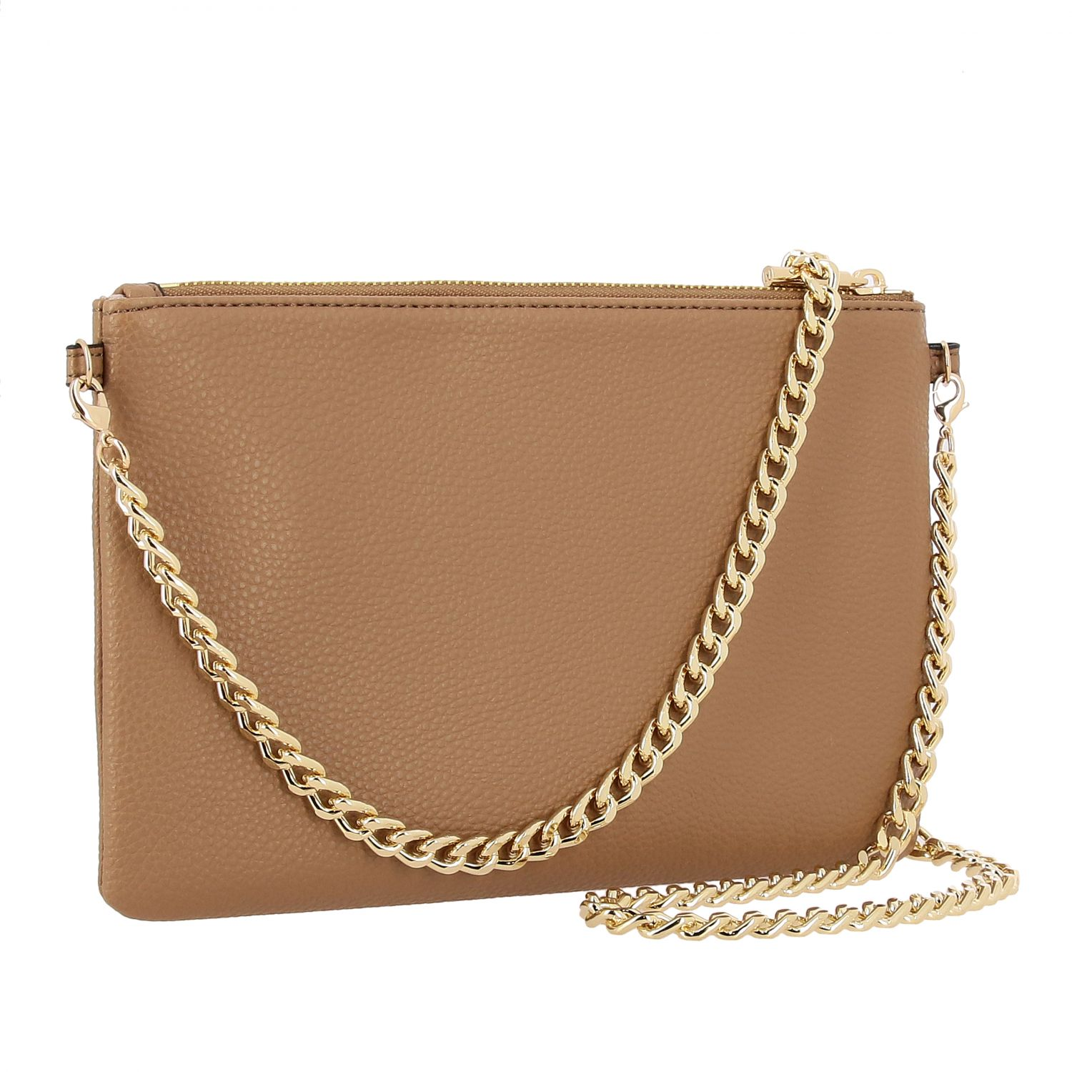 Liu Jo clutch in synthetic leather with all-over rhinestones camel 3