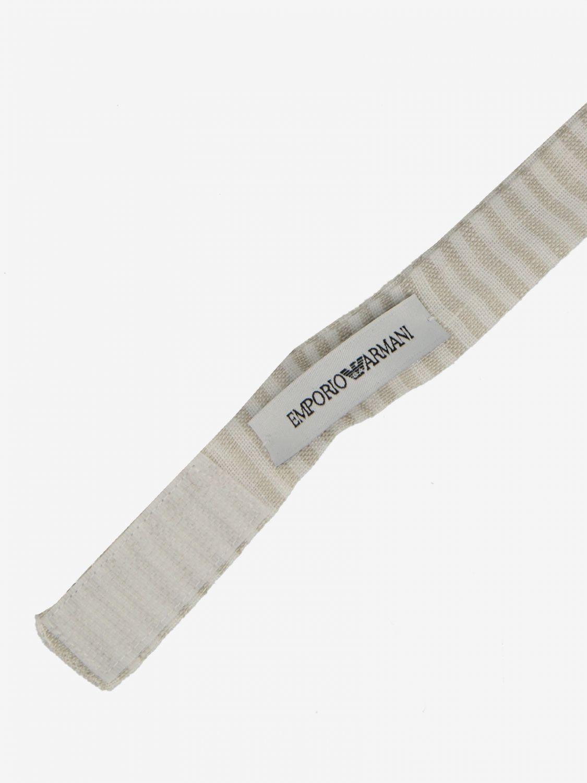 Classic striped Emporio Armani bow tie white 2