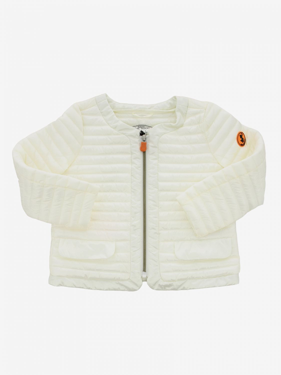 Save The Duck down jacket with zip white 1