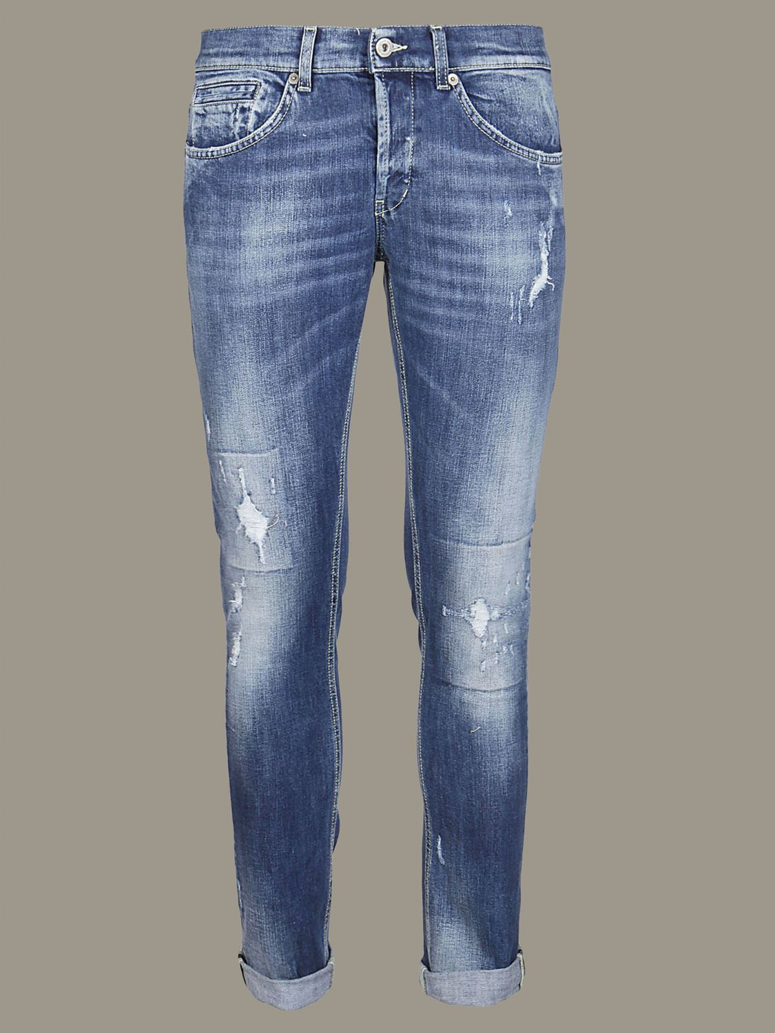 Hose Dondup: Dondup Jeans aus Used Denim mit Rissen denim 1