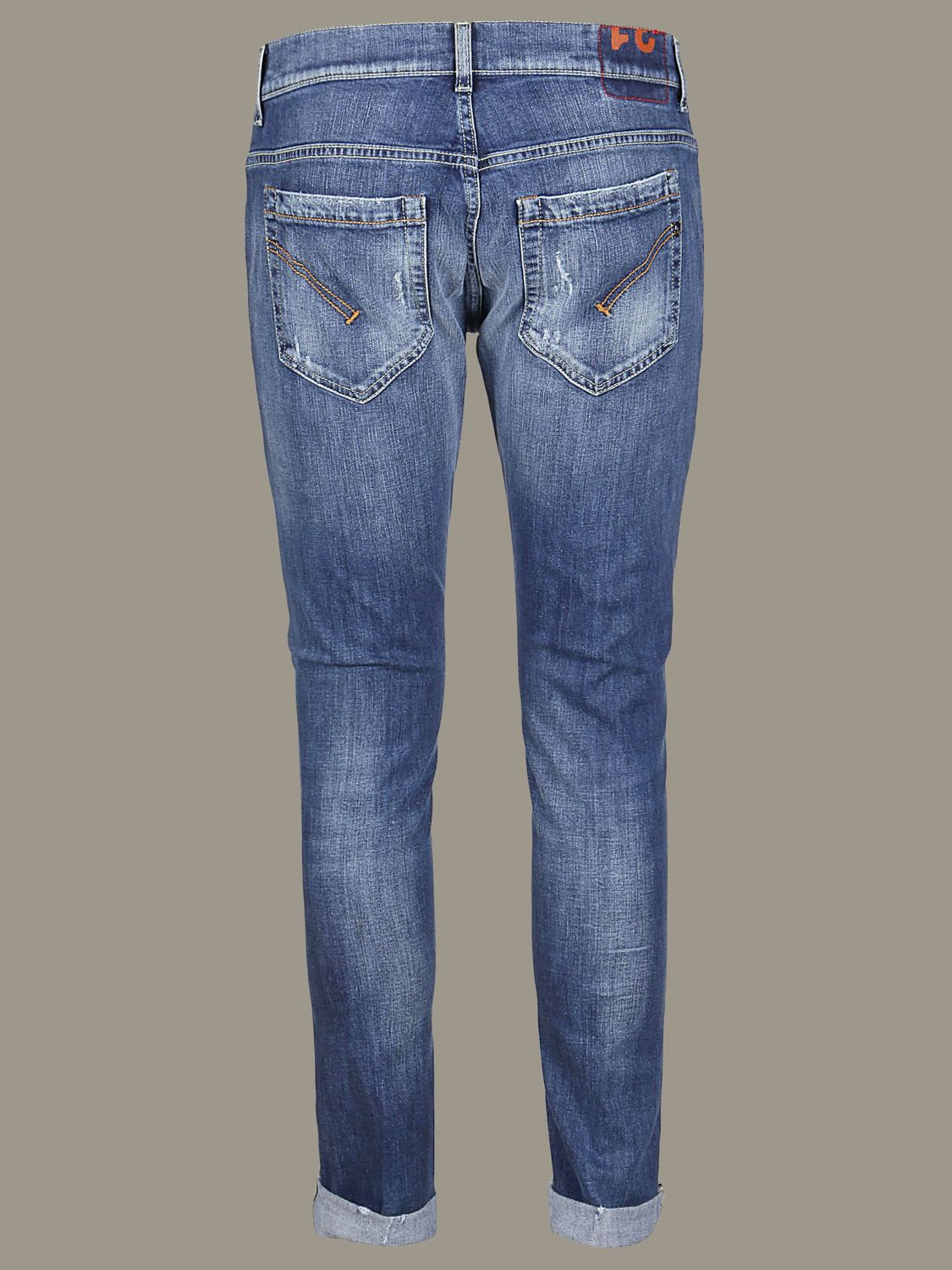 Hose Dondup: Dondup Jeans aus Used Denim mit Rissen denim 2