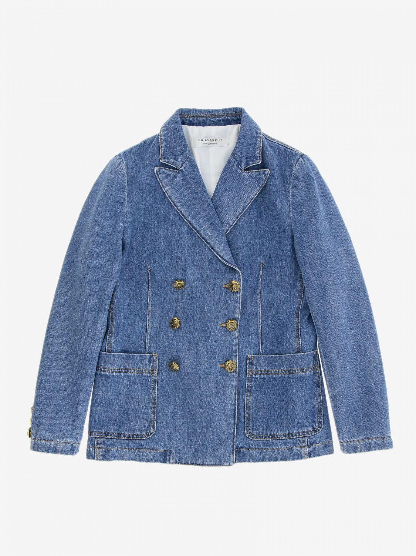 Jacket kids Philosophy Di Lorenzo Serafini denim 1