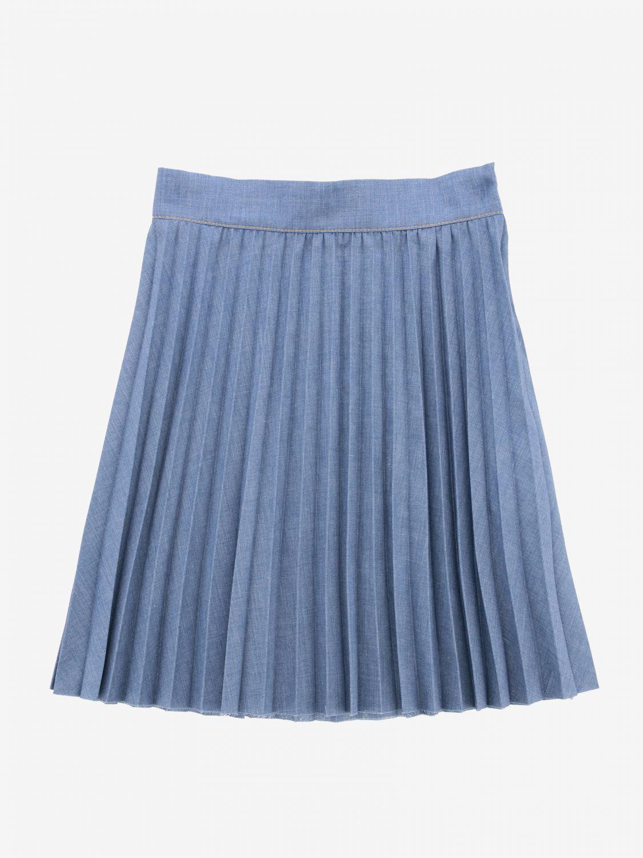 Philosophy Di Lorenzo Serafini pleated skirt denim 1