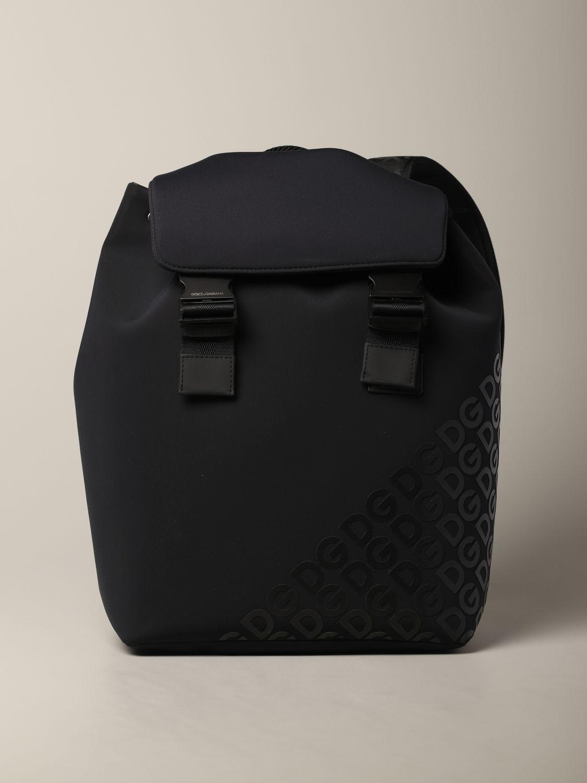 Rucksack Dolce & Gabbana: Dolce & Gabbana Rucksack aus Neopren mit Logo schwarz 1