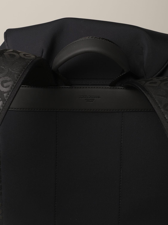 Rucksack Dolce & Gabbana: Dolce & Gabbana Rucksack aus Neopren mit Logo schwarz 4
