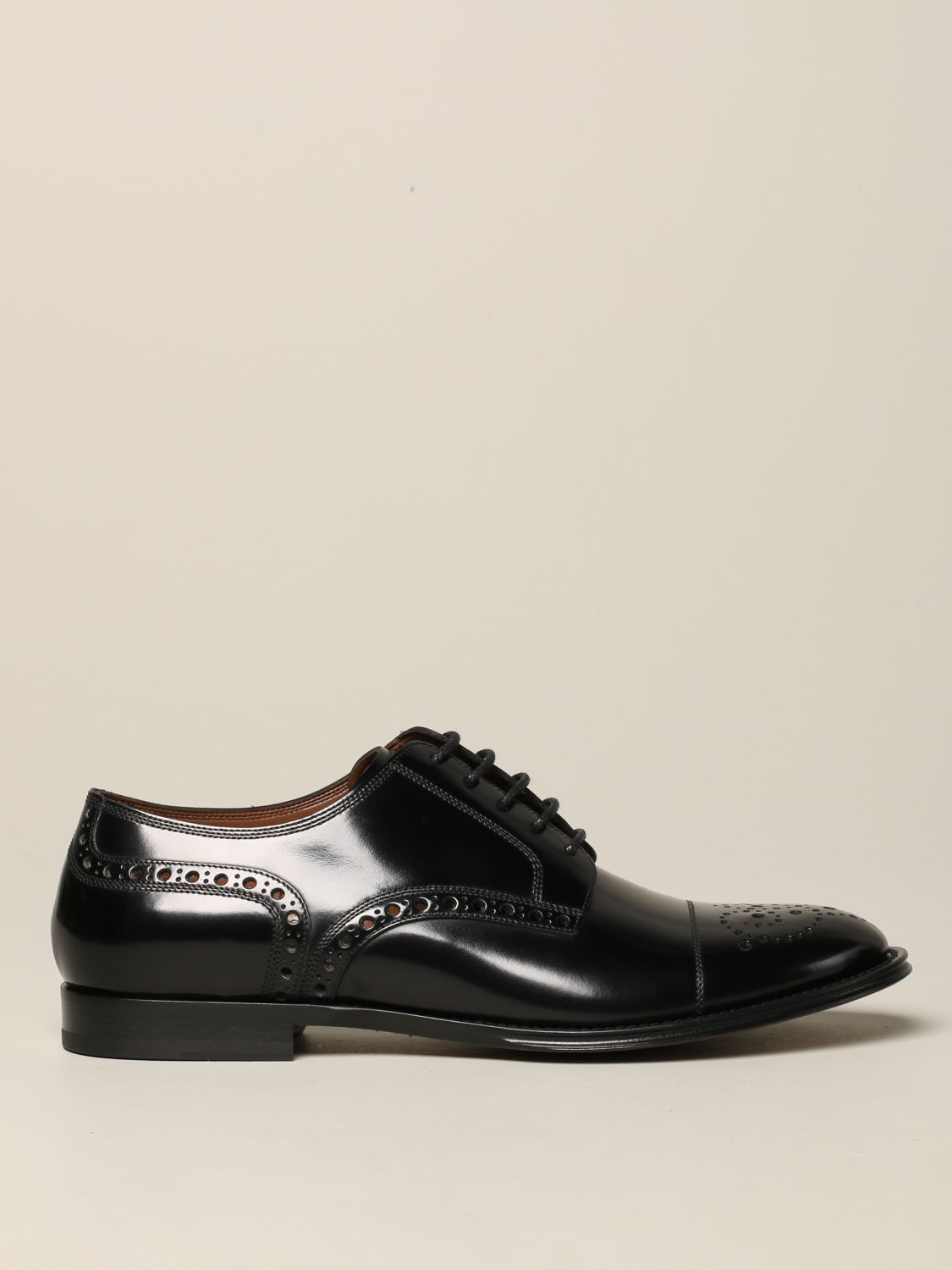 Brogue shoes Dolce & Gabbana: Dolce & Gabbana lace-up in leather with brogue motif black 1