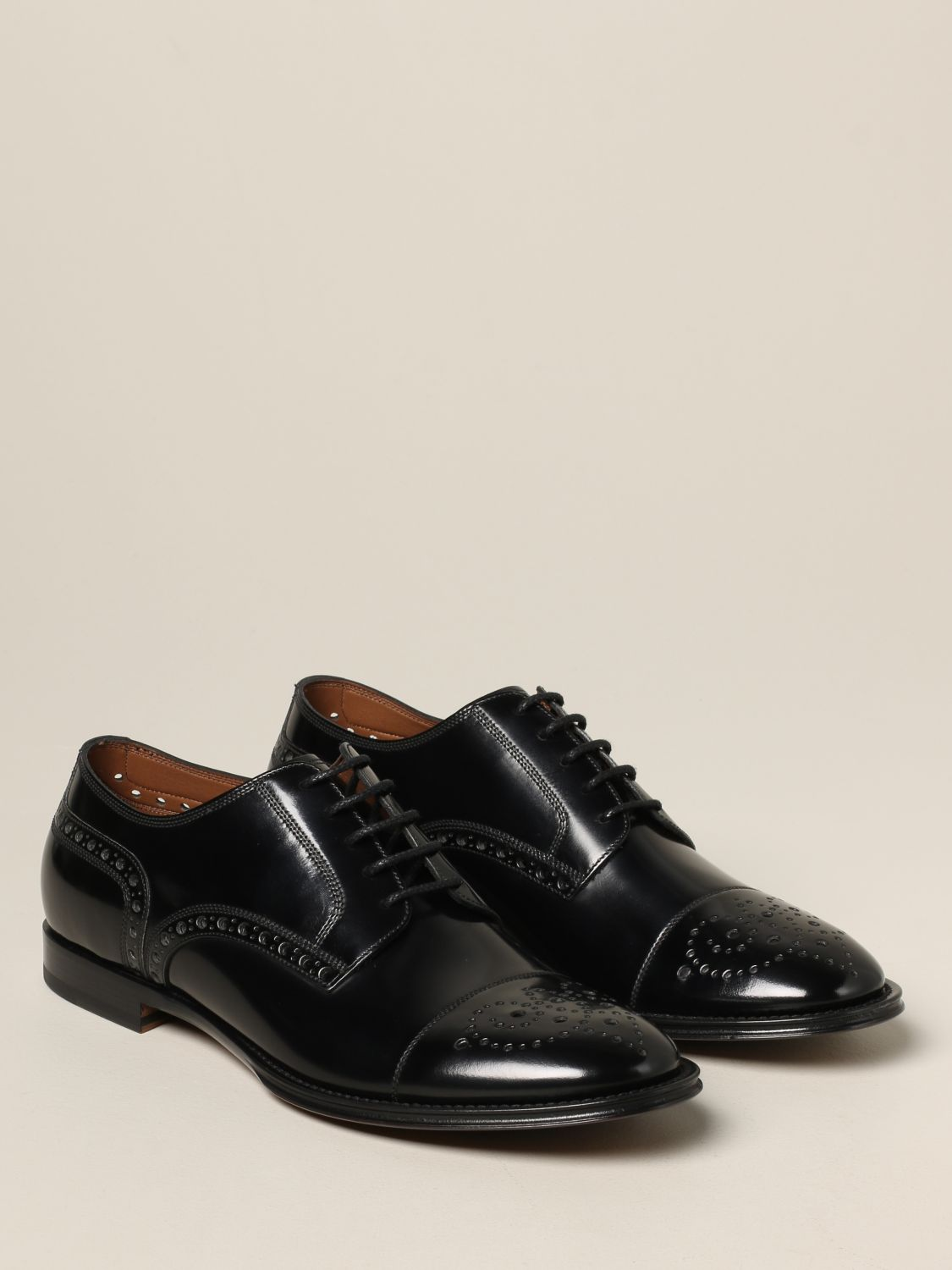 Brogue shoes Dolce & Gabbana: Dolce & Gabbana lace-up in leather with brogue motif black 2