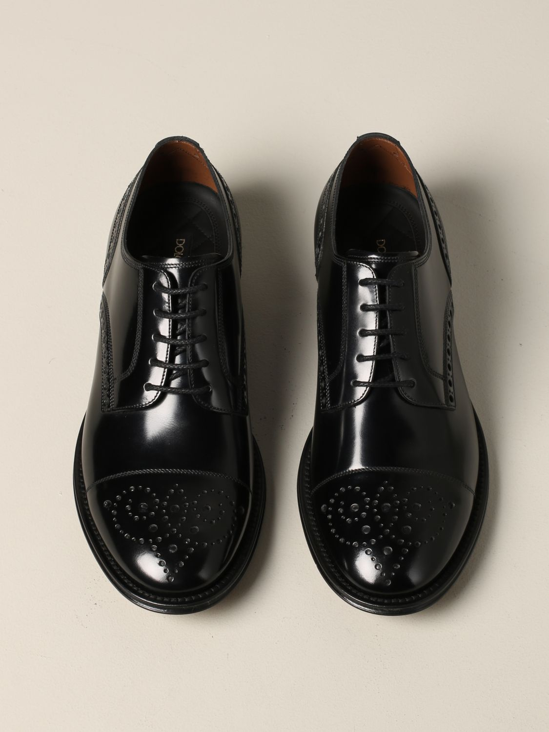 Brogue shoes Dolce & Gabbana: Dolce & Gabbana lace-up in leather with brogue motif black 3