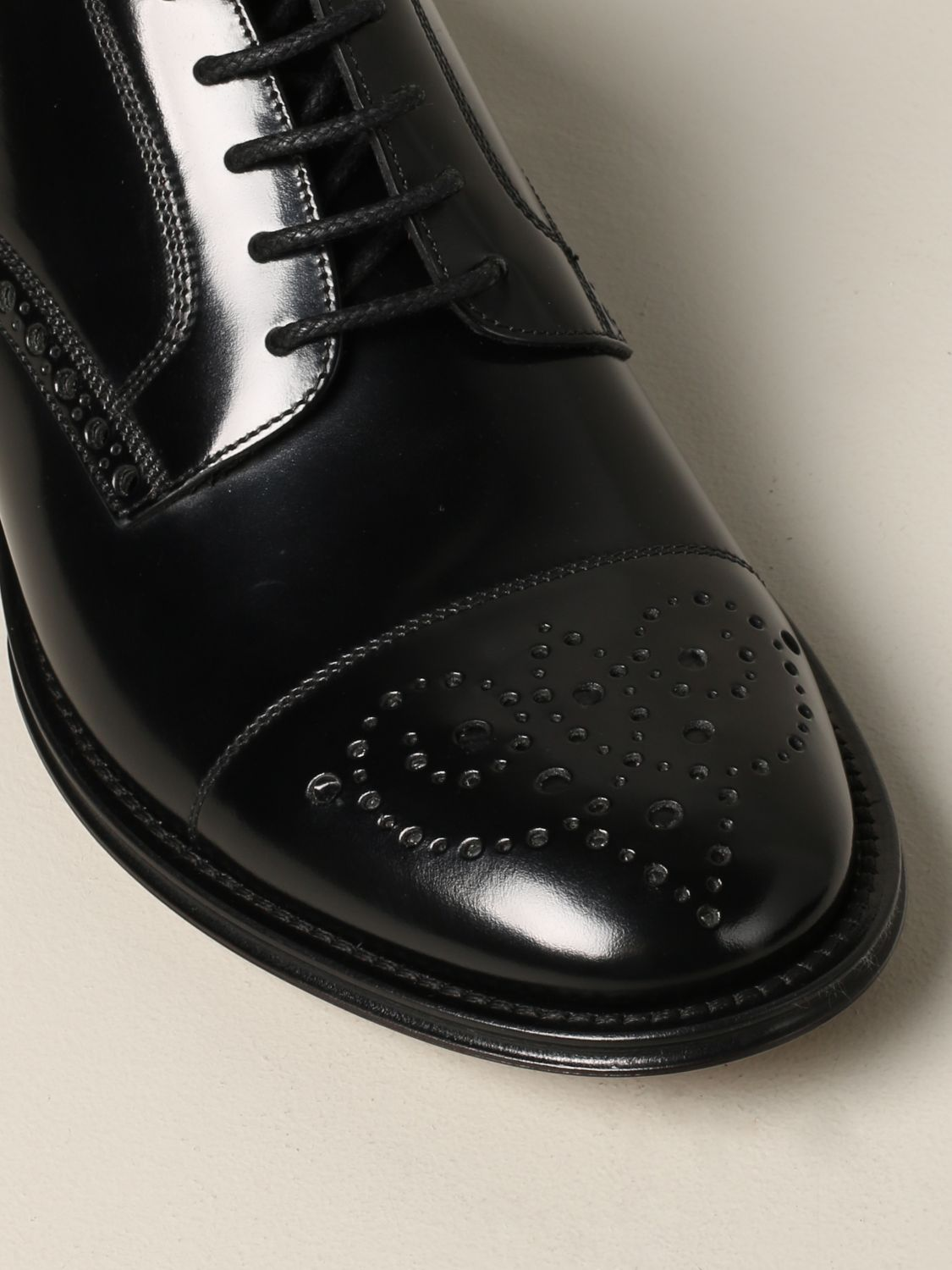 Brogue shoes Dolce & Gabbana: Dolce & Gabbana lace-up in leather with brogue motif black 4
