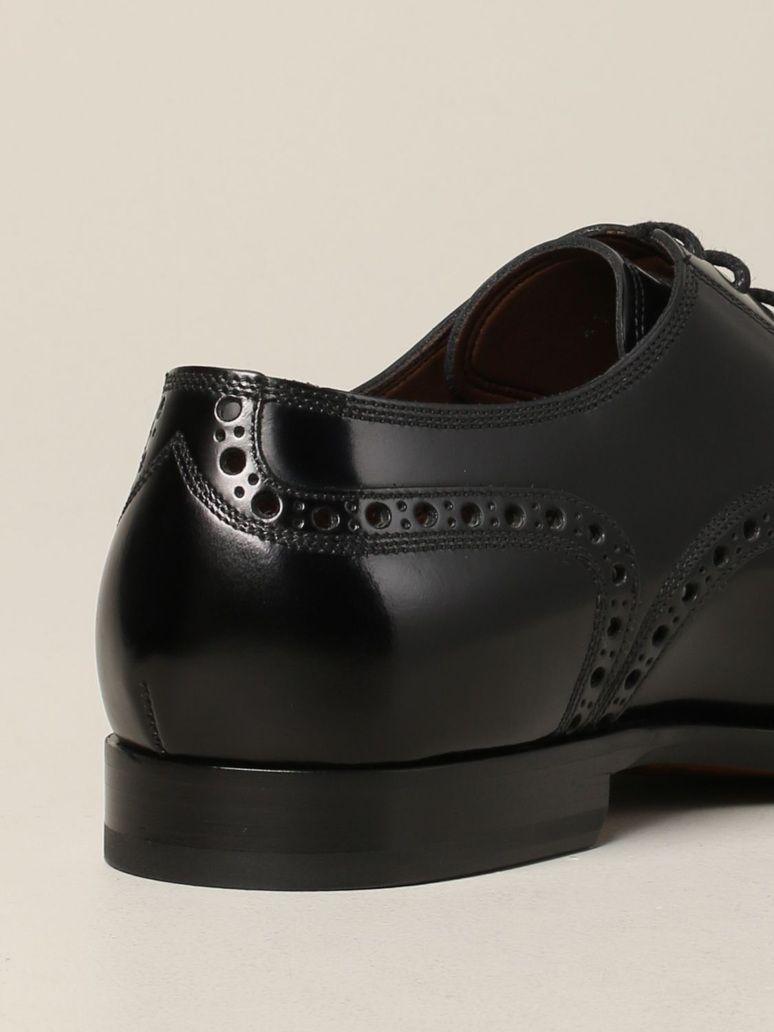 Brogue shoes Dolce & Gabbana: Dolce & Gabbana lace-up in leather with brogue motif black 5