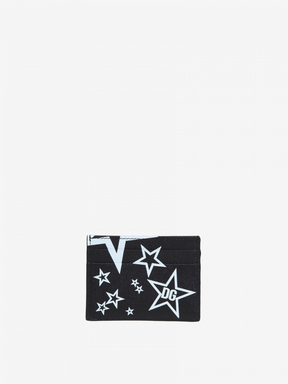 Portmonnaie Dolce & Gabbana: Dolce & Gabbana Brieftasche mit Prints all over schwarz 1