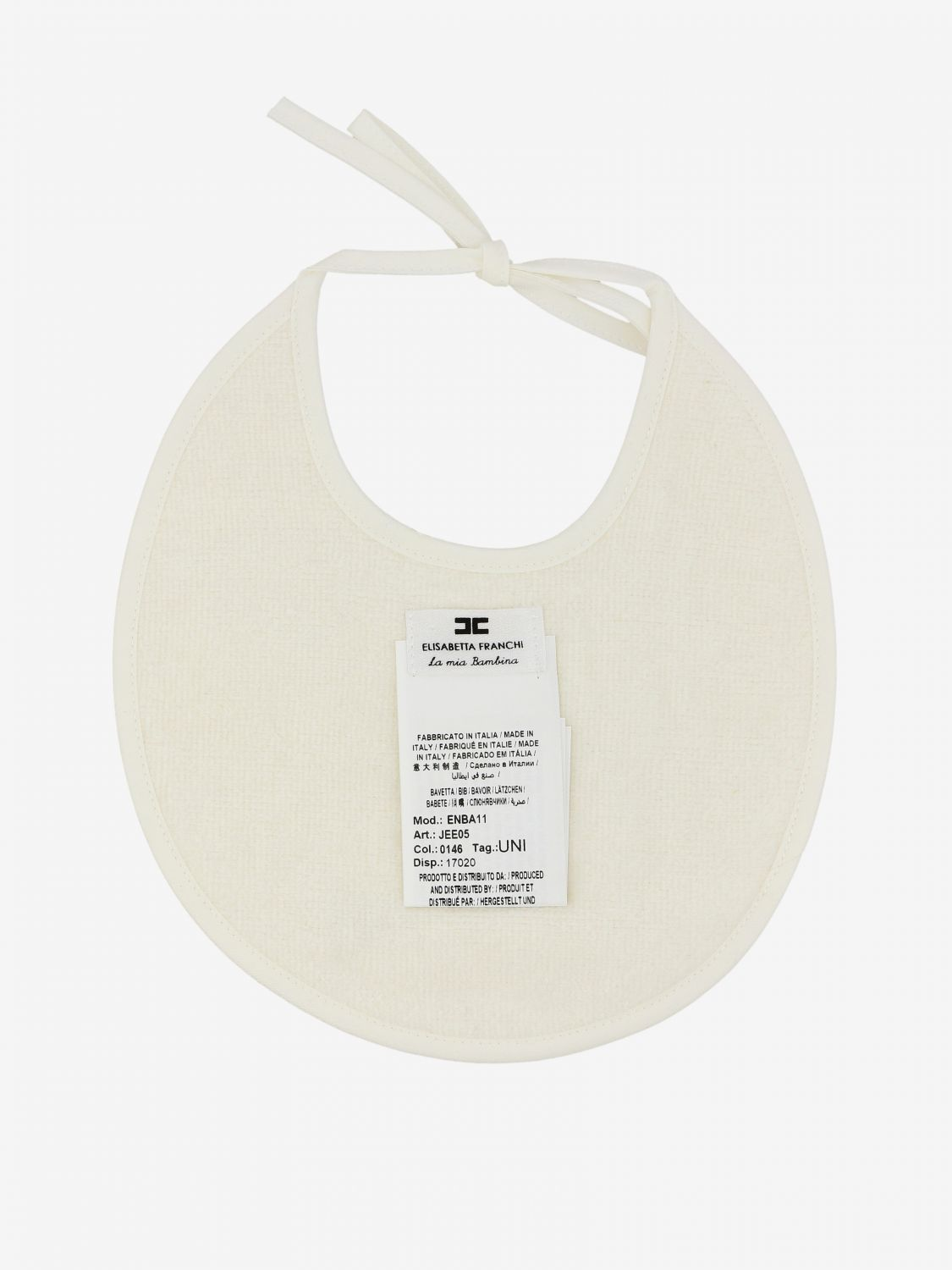 Elisabetta Franchi bib with all over logo ivory 2