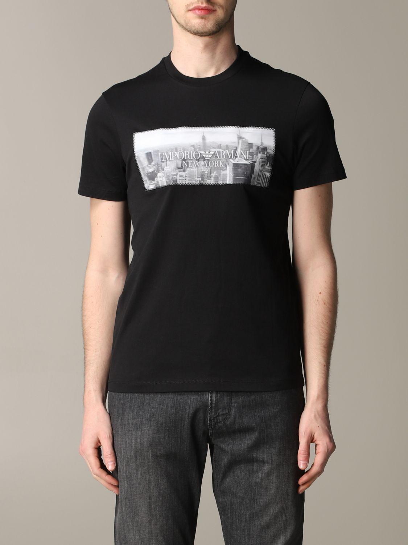 T-Shirt Emporio Armani: Emporio Armani T-Shirt mit Aufdruck und Logo schwarz 1