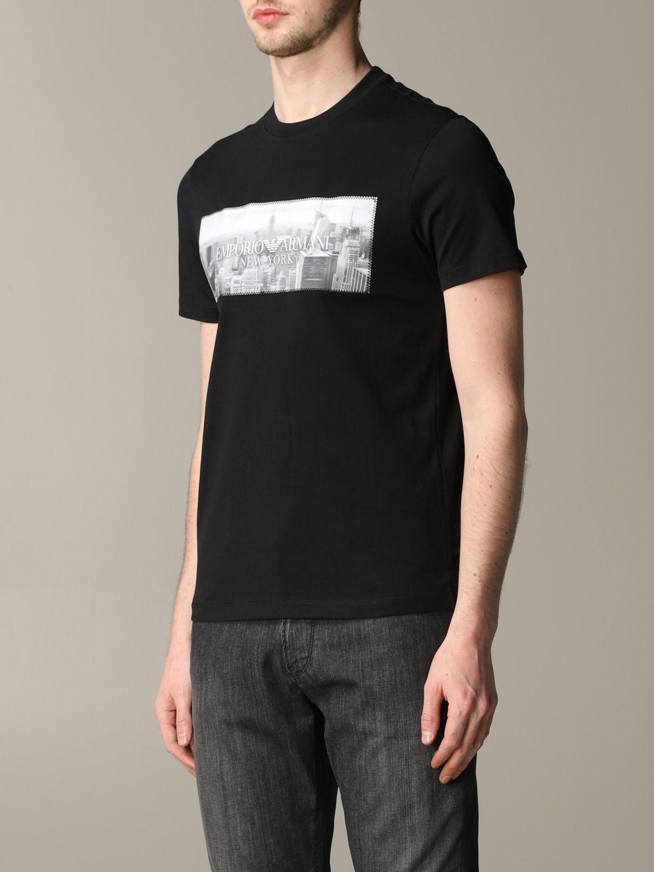 T-Shirt Emporio Armani: Emporio Armani T-Shirt mit Aufdruck und Logo schwarz 4