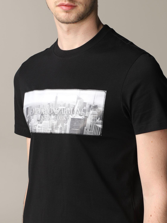 T-Shirt Emporio Armani: Emporio Armani T-Shirt mit Aufdruck und Logo schwarz 5