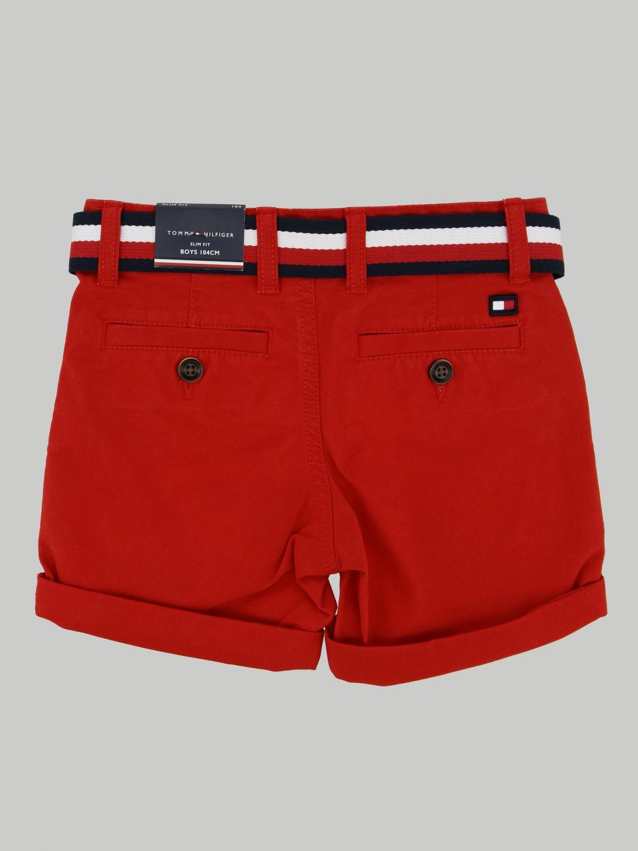 Tommy Hilfiger Shorts With Belt Shorts Tommy Hilfiger Kids Red Shorts Tommy Hilfiger Kb0kb05603 Giglio En