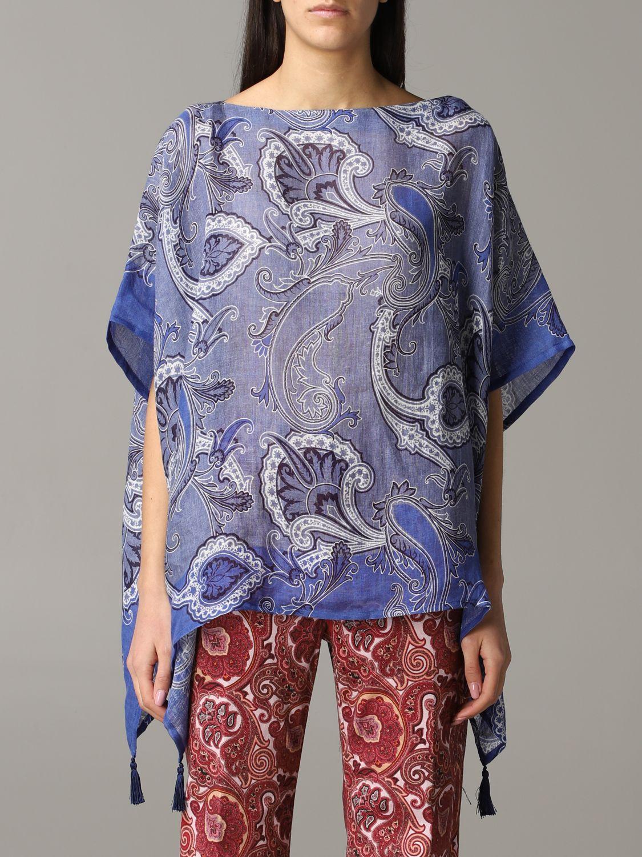 Etro Kaftan mit Paisley-Muster blau 1