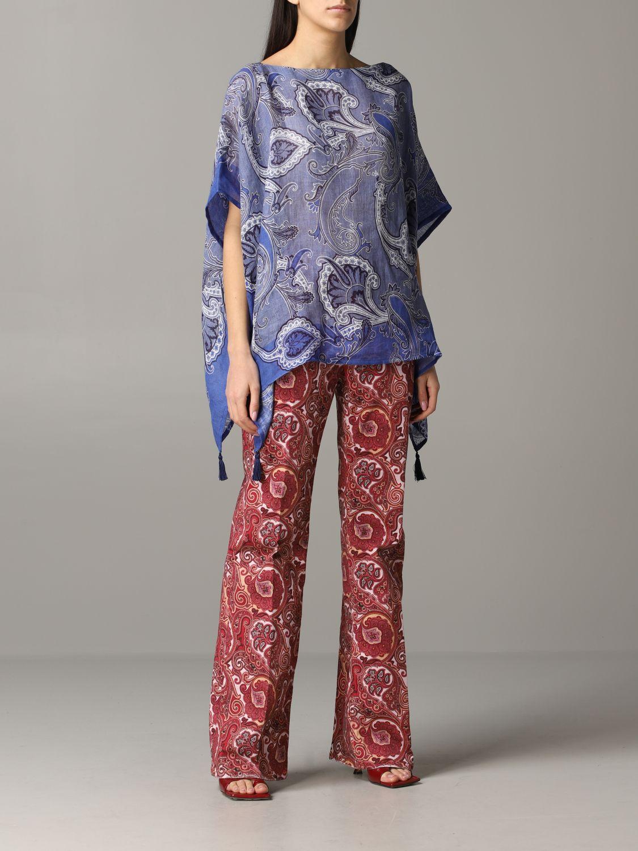 Etro Kaftan mit Paisley-Muster blau 2