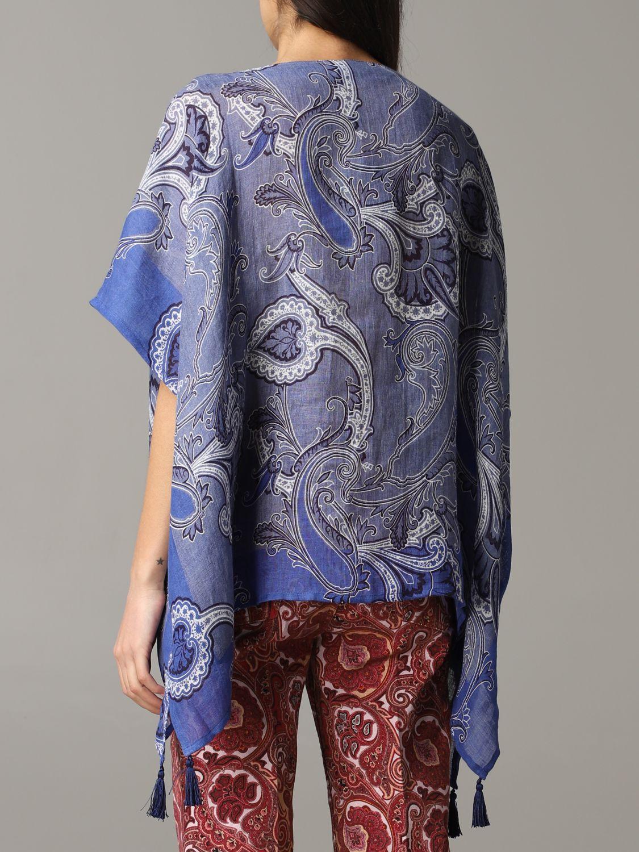 Etro Kaftan mit Paisley-Muster blau 3