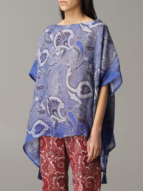 Etro Kaftan mit Paisley-Muster blau 4