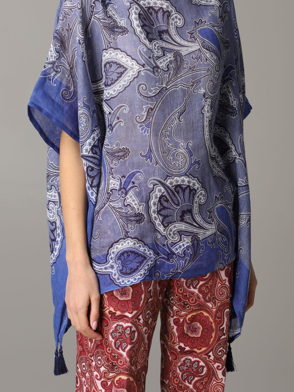 Etro Kaftan mit Paisley-Muster blau 5