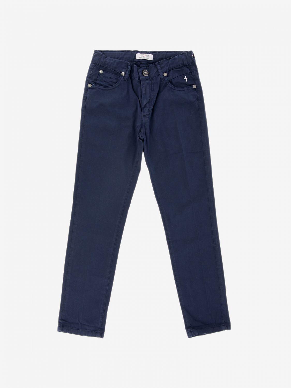 Pantalone Paciotti 4US in cotone a 5 tasche blue 1
