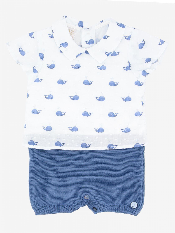 Barboteuse Paz Rodriguez avec motif baleines bleu 1
