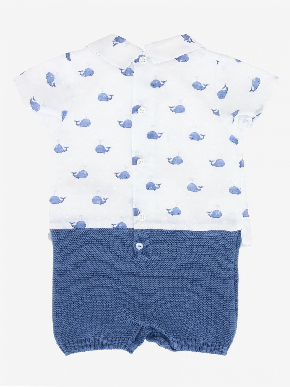 Barboteuse Paz Rodriguez avec motif baleines bleu 2