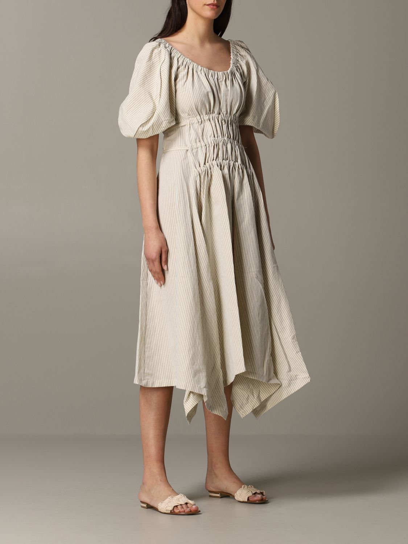 Dress women Eudon Choi beige 1