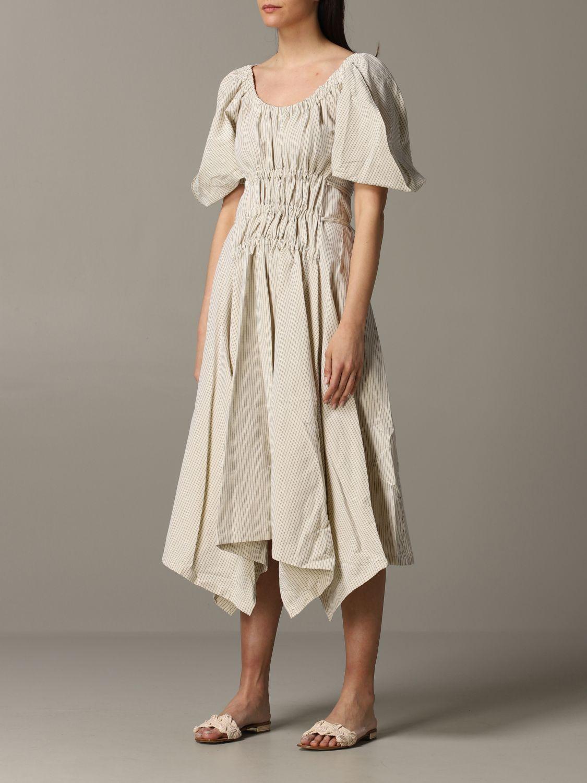 Dress women Eudon Choi beige 2