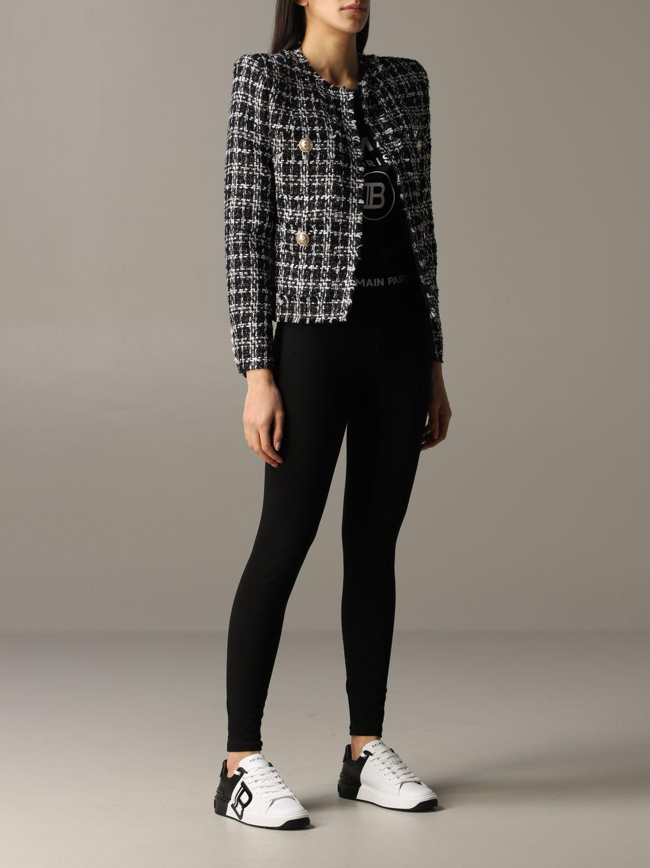 Blazer Balmain: Jacket women Balmain black 2