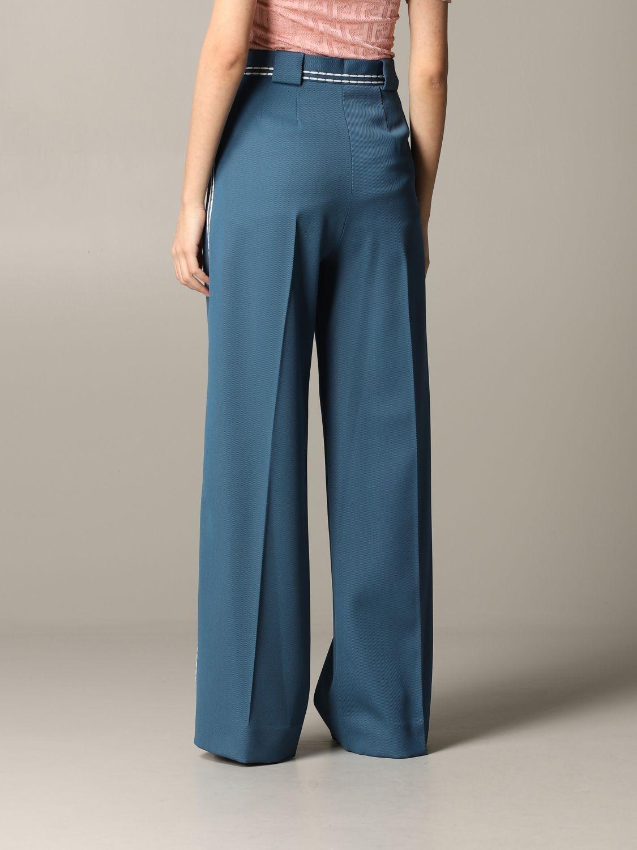 Pantalone Fendi ampio con cuciture blue 3