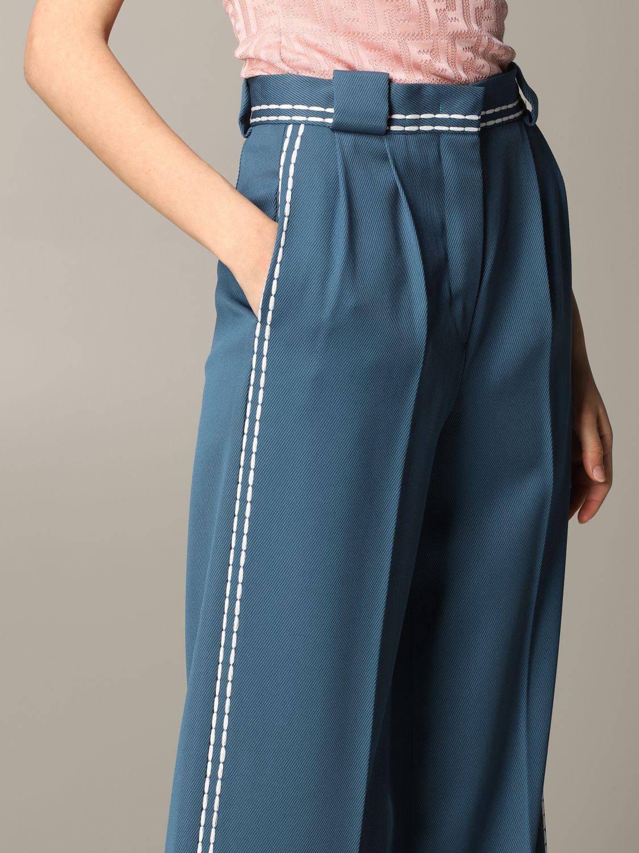 Pantalone Fendi ampio con cuciture blue 5