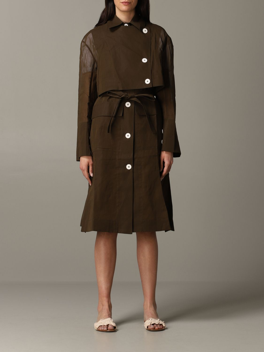 Trench coat women Eudon Choi brown 1