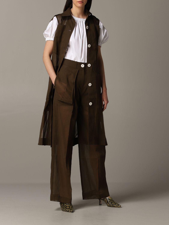 Skirt women Eudon Choi brown 2