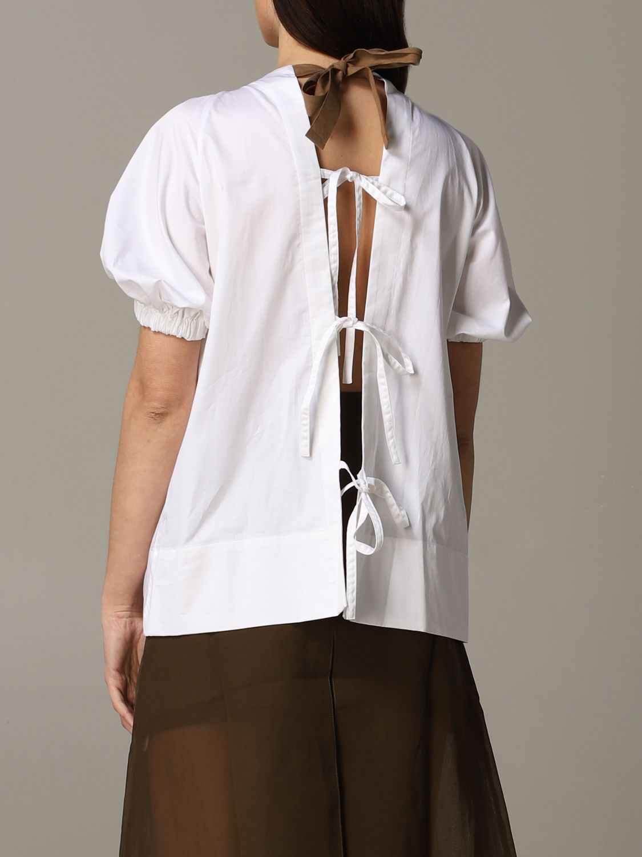 Top Eudon Choi a maniche corte bianco 3
