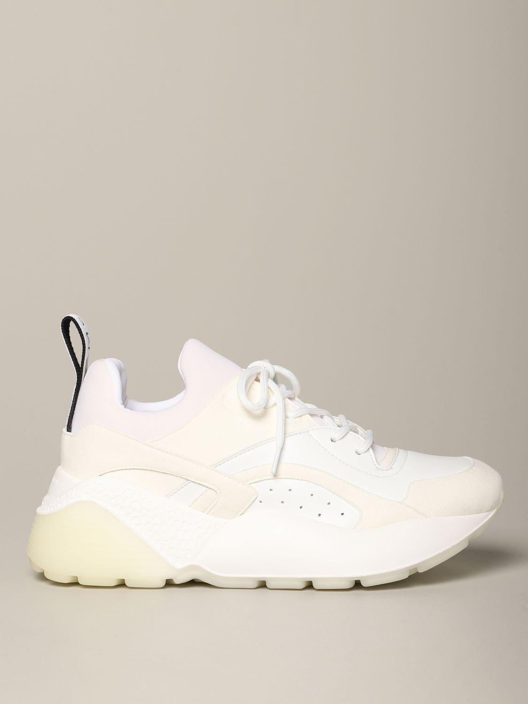 Sneakers Stella Mccartney in pelle con logo bianco 1