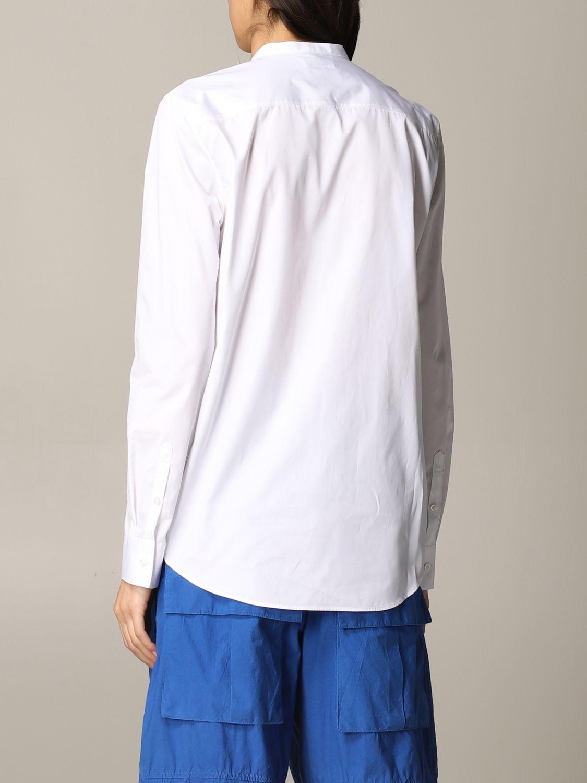 Camicia Jil Sander con collo alla coreana bianco 2