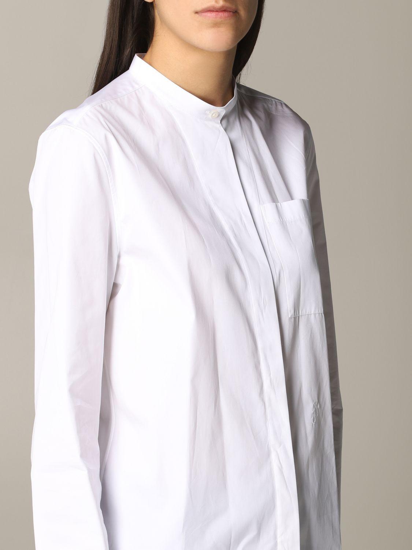 Camicia Jil Sander con collo alla coreana bianco 4