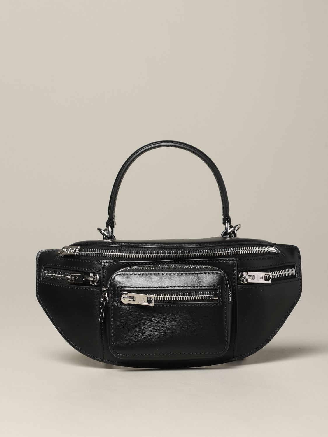 Alexander Wang pouch in full zip leather black 1