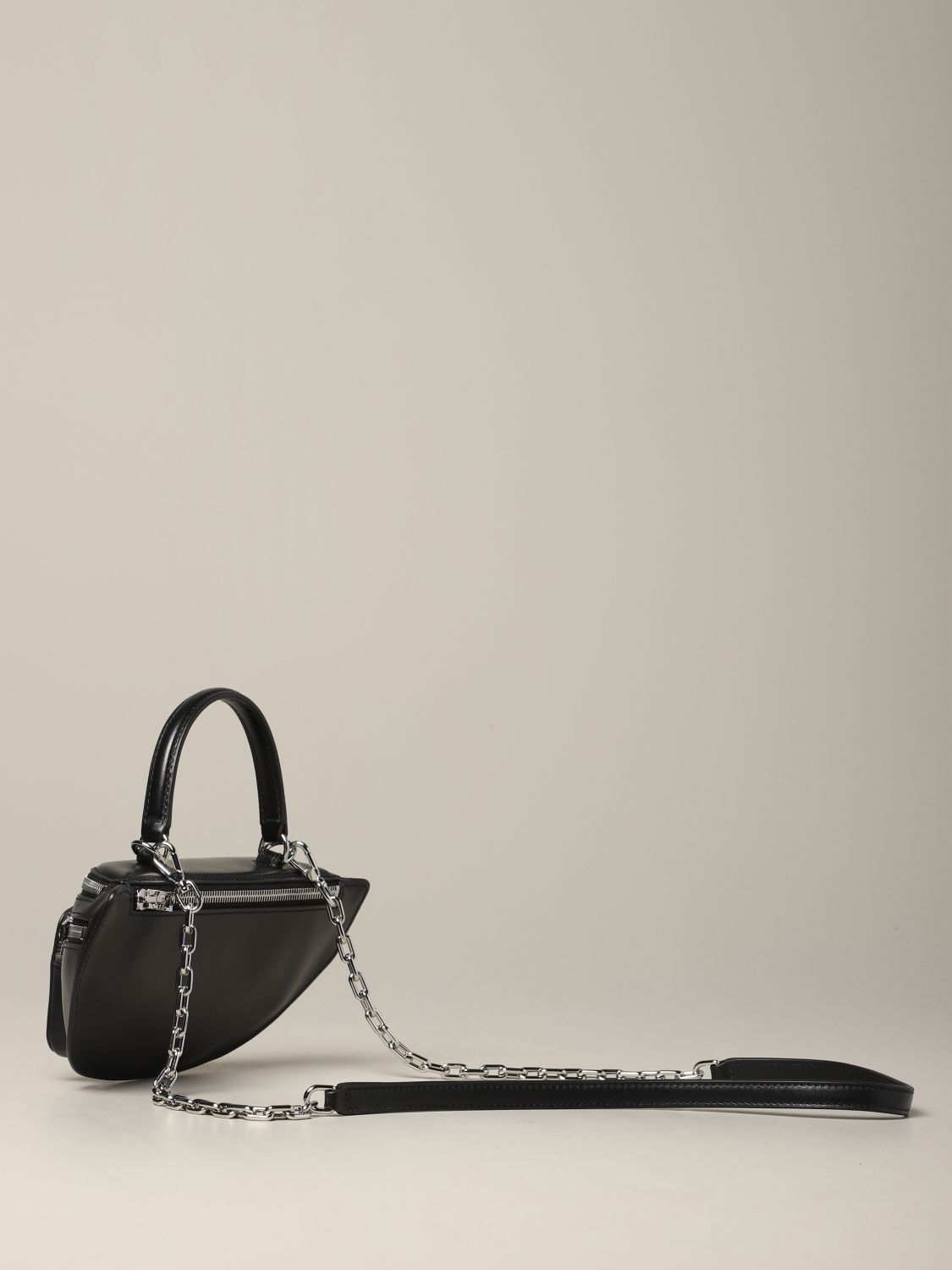 Alexander Wang pouch in full zip leather black 3