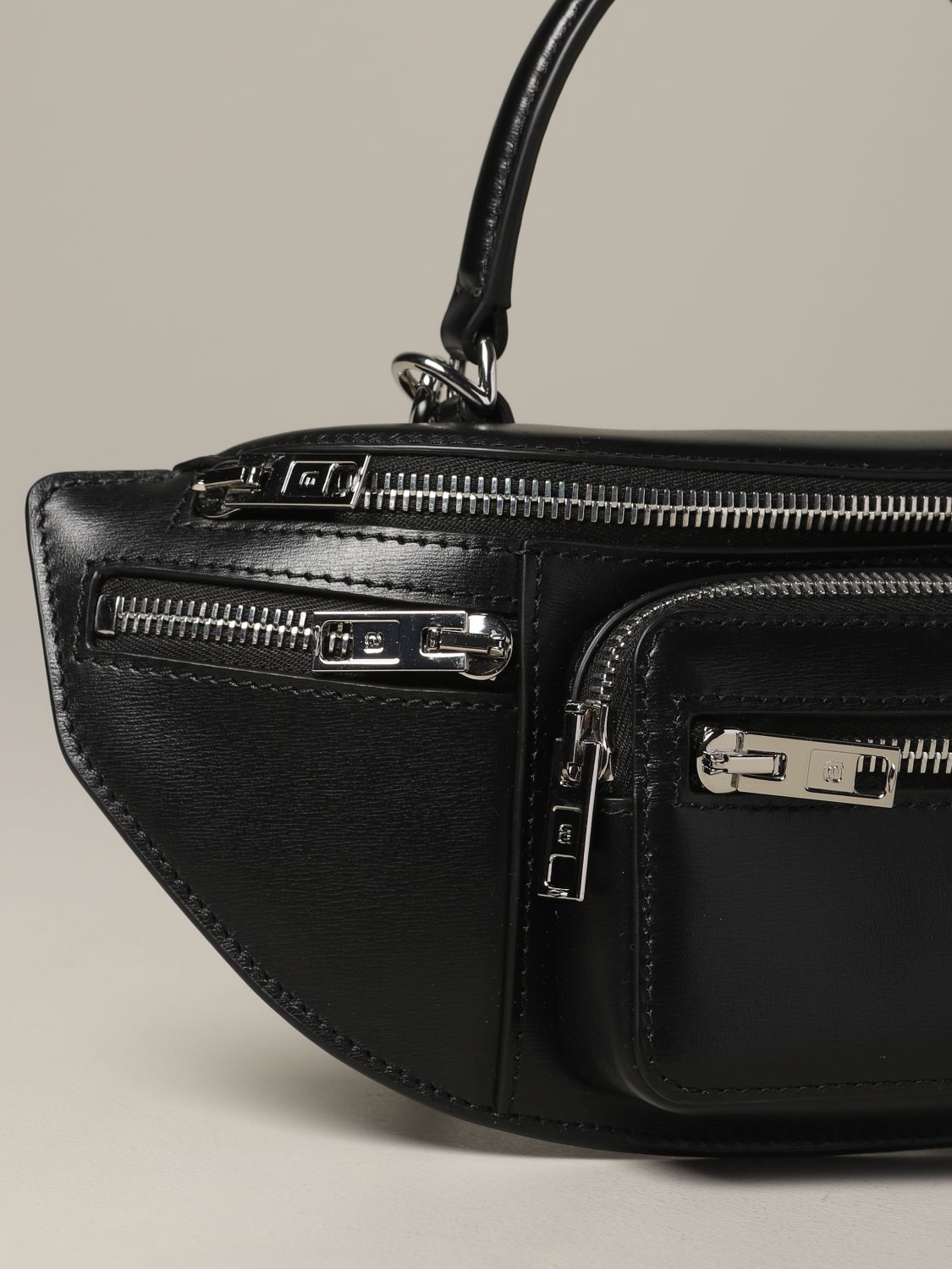 Alexander Wang pouch in full zip leather black 4