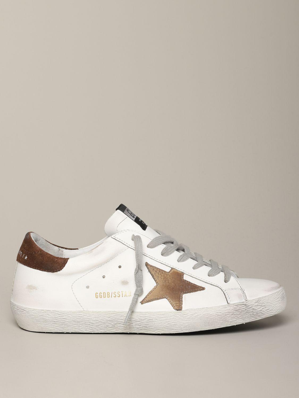 Golden Goose Sneakers aus Leder und Wildleder weiß 1