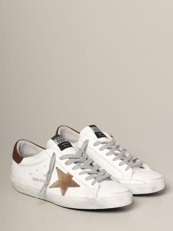 Golden Goose Sneakers aus Leder und Wildleder weiß 2