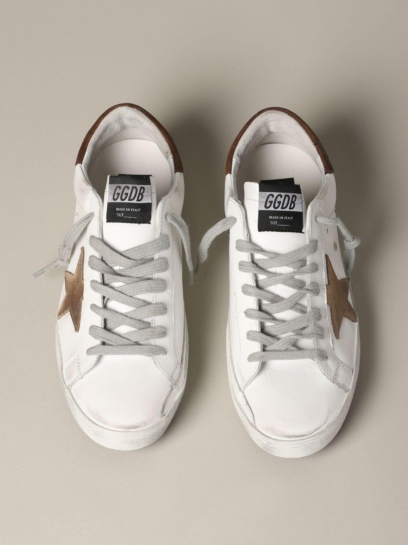 Golden Goose Sneakers aus Leder und Wildleder weiß 3