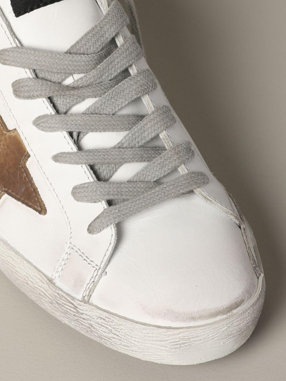 Golden Goose Sneakers aus Leder und Wildleder weiß 4