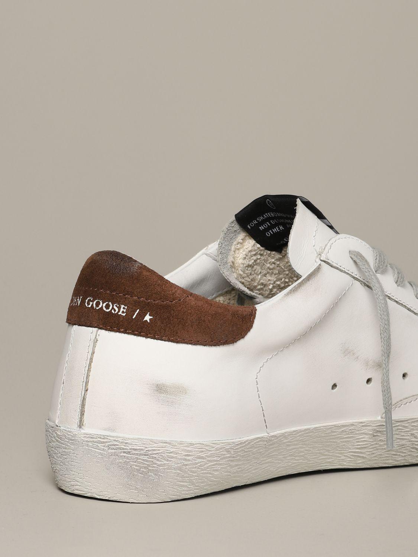 Golden Goose Sneakers aus Leder und Wildleder weiß 5