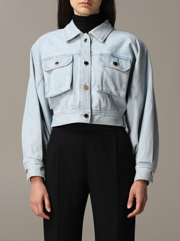 Giacca di jeans Alberta Ferretti cropped blue 1