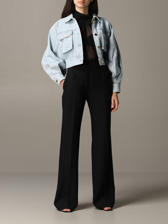 Giacca di jeans Alberta Ferretti cropped blue 2